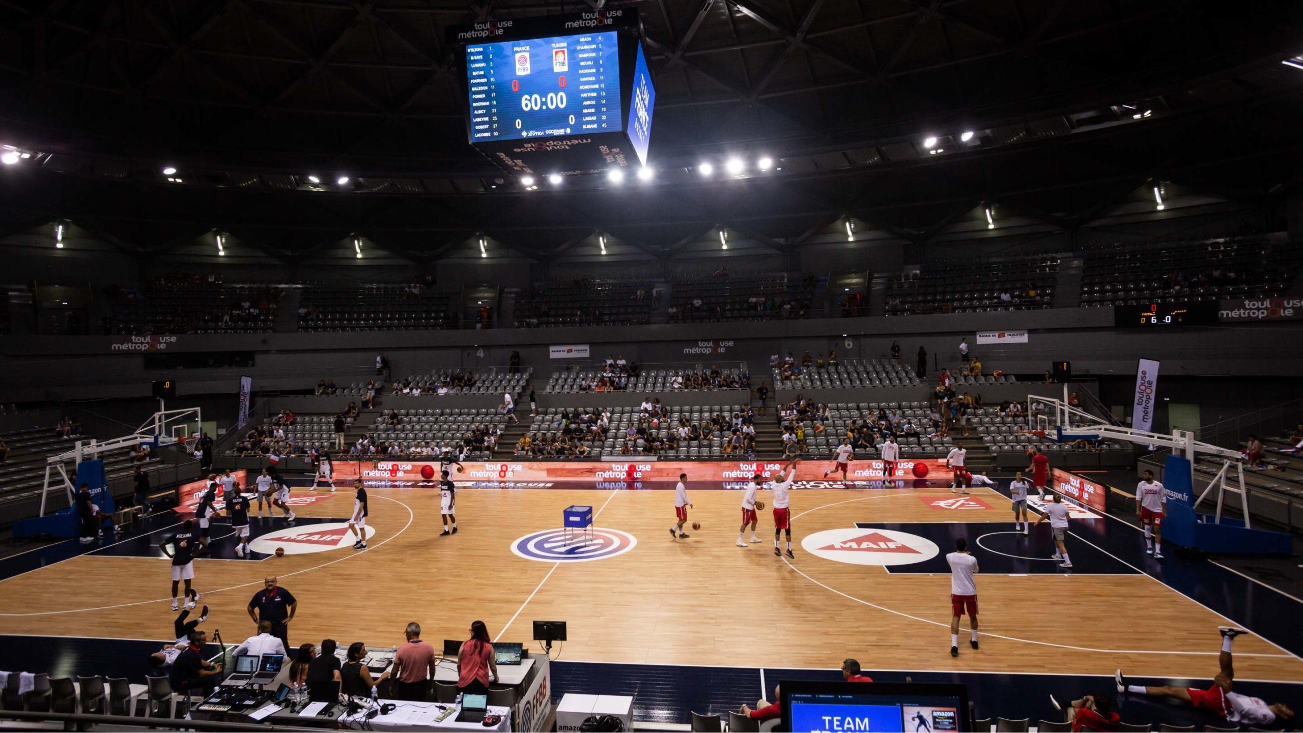 Match préparatoire de l'équipe de france basketball - Palais des sports de Toulouse