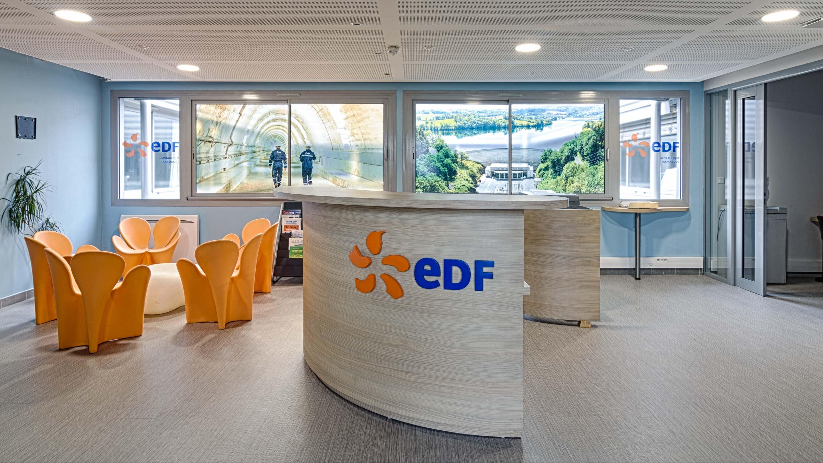 Décoration siège EDF Hydroélectrique Tarn-Agout