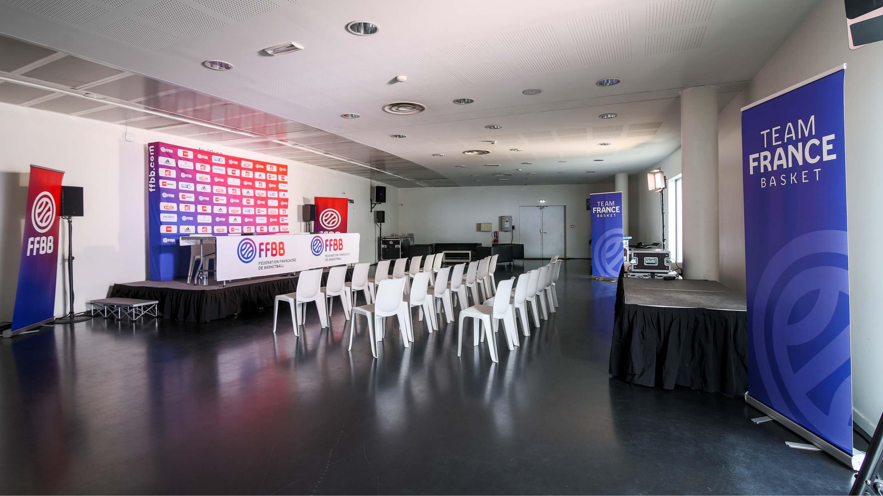 Salle de presse Equipe de France de Basketball - Palais des sports Toulouse