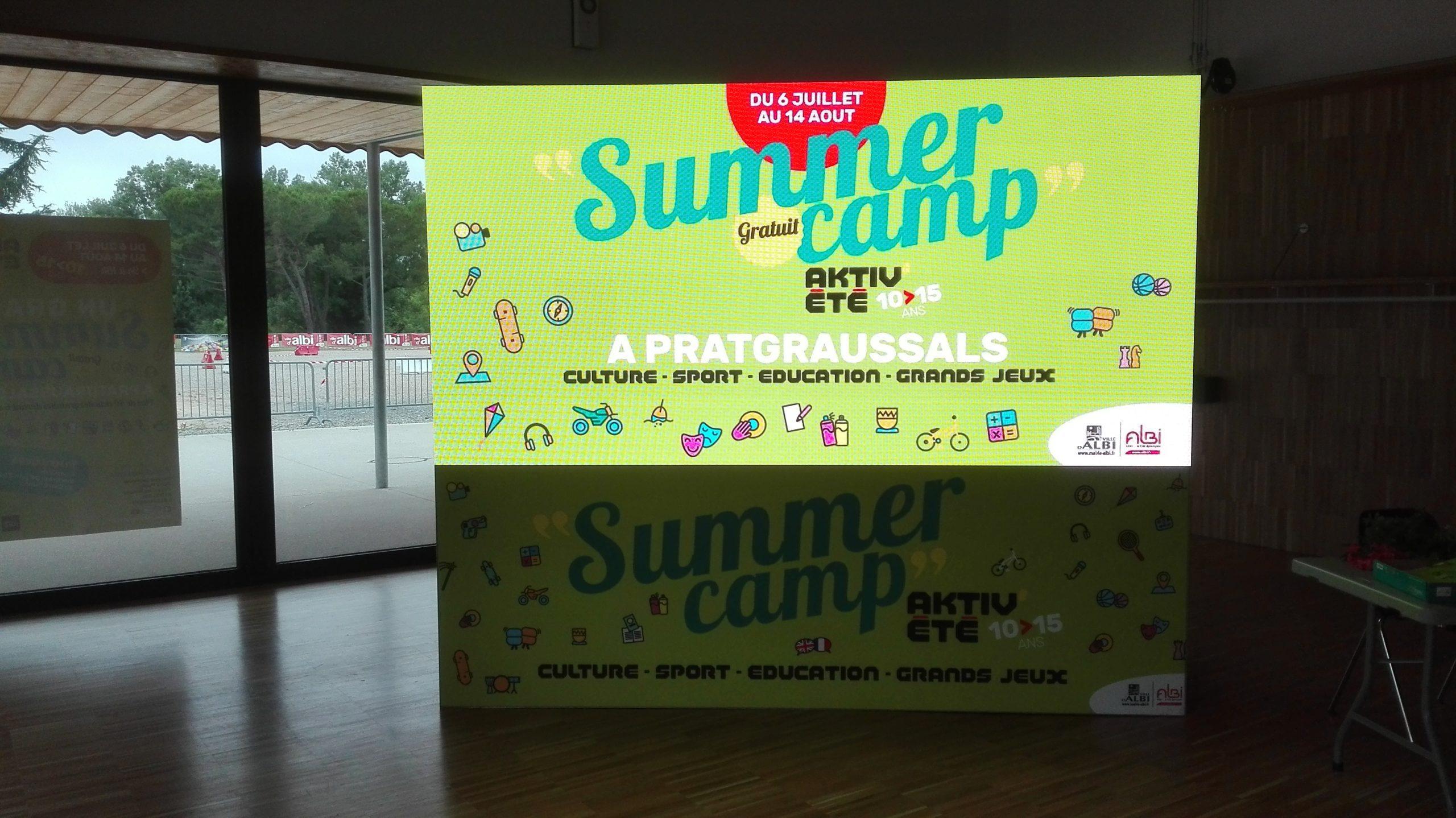 écran led - groupe desytech - summer camp albi